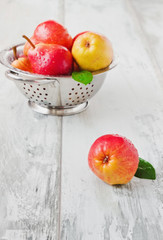 pears in a colander