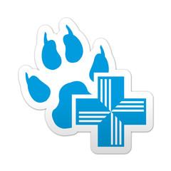 Pegatina simbolo veterinario