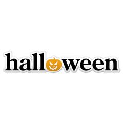Pegatina texto halloween