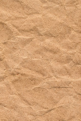 Recycle Coarse Grain Brown Kraft Paper Crumpled Grunge Texture