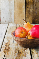 ripe red pears
