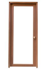 Wood door isolate on white background
