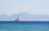 Sailing yacht in sea