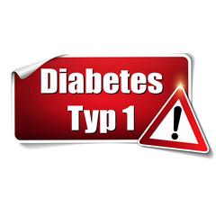 Diabetes Typ 1 Aufkleber