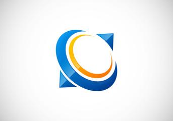 abstract circle communication vector logo