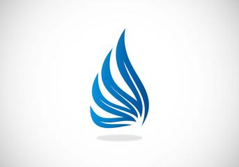 wing abstract vector logo