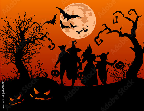 Tuinposter Sprookjeswereld Halloween children