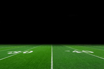Football field with copy space