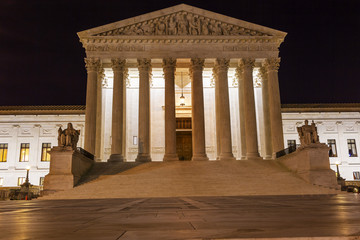US Supreme Court Capitol Hill Night Washington DC