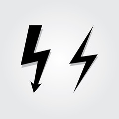 Lightning Bolt icon set