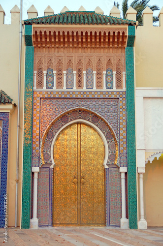The gates of Royal Palace Dar el Makhzen in Fes, Morocco - 70911268