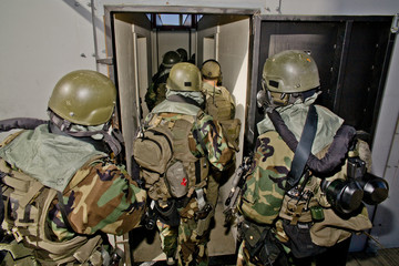 SWAT Team Enters Room