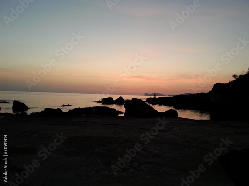canvas print picture Abendstimmung in Alghero Sardinien