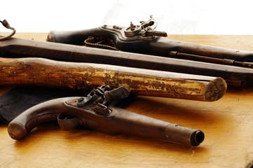 Flintlock blunderbuss pistols