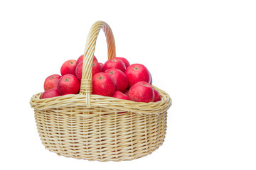 Full basket with red apples
