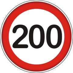 Verkehrsschild, 200