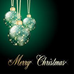grüne Weihnachtskarte Hintergrund