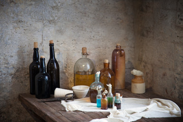 The old pharmacist's bottle