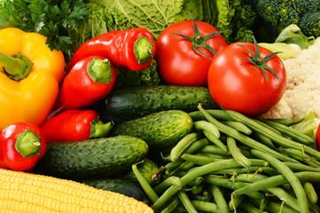 Variety of fresh organic vegetables. Detox diet