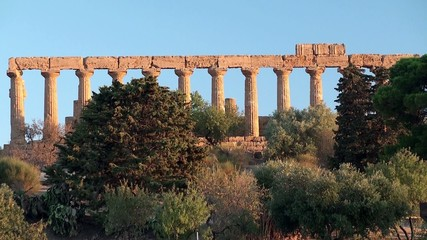 Valley of the Temples. Temple of Juno Lacinia. Sicily