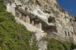 The rock monastery  Basarbovo, Bulgaria. Rock church.
