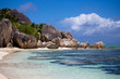 canvas print picture - Traumstrand Seychellen