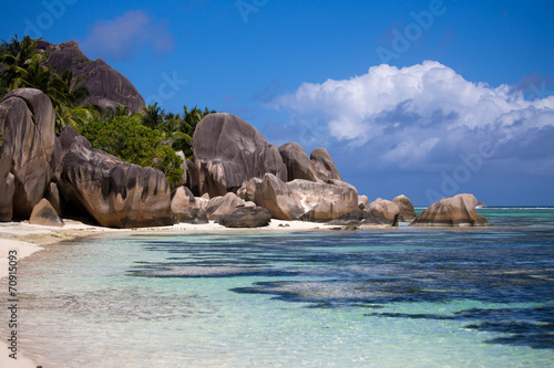 canvas print picture Traumstrand Seychellen