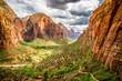 Leinwanddruck Bild - landscape from zion national park utah