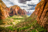 landscape from zion national park utah