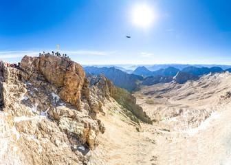 Berggipfelpanorama