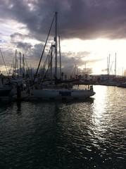 Sonnenuntergang in der Bucht von Gibraltar
