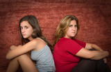 Teenager problems - Teen and her worried mother poster
