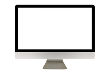 Computer display with blank screen