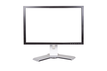 Large monitor on a white background