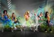canvas print picture - Modern dancer team