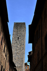 San Gimignano - Vicolo vista torre