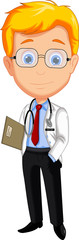 handsome doctor cartoon