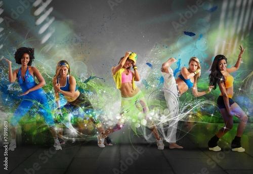 canvas print picture Modern dancer team
