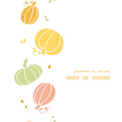 Vector thanksgiving colorful pumpkins silhouettes vertical