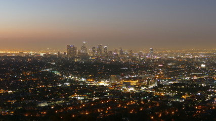 Los Angeles Downtown Night to Dawn
