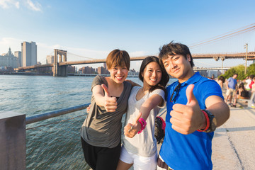 Happy Japanese Tourists in New York