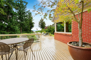 House with spacious walkout deck