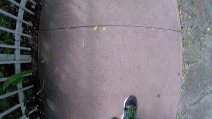 Walking on a sidewalk