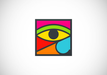eye decoration abstract vector logo