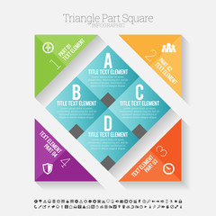 Triangle Part Square Infographic