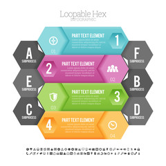 Loopable Hex Infographic
