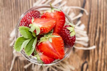 Strawberry Pieces (close-up shot)