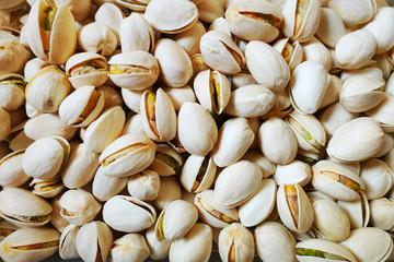 Close up of pistachios