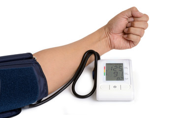 Electronic blood pressure meter.