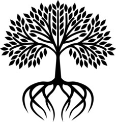Tree icon with roots